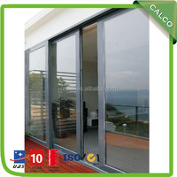 2015 Hot sale lift and slide aluminium door,large sliding glass doors with electronic build-in blind