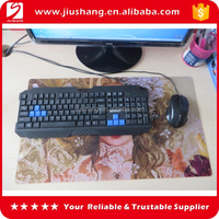 Custom big rubber mouse mat with colorful printed logo for game