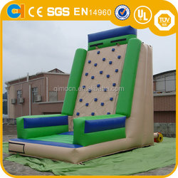New Deisgn Inflatable Green Climbing Game, inflatable climbing course, inflatable wall climbing for adult