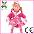 Caliente venta muñecas baratas que parecen reales y muñecas 22 pulgadas singing doll juguetes