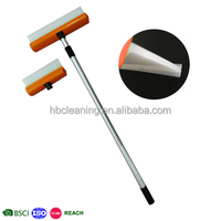 2 in 1 long handle silicone squeegee, water blade, window wiper