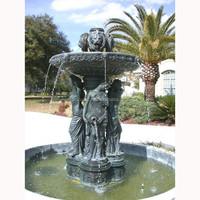large bronze four season lady fountain
