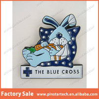 China Wholesale Custom The Blue Cross Enamel Rabbit In Bandages Animal Charity Metal Lapel Pin Badge