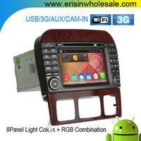 "Erisin ES9509A 7"" 2 Din Touch Screen Car DVD GPS for W220 W215"