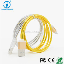 Oem new gold silver flat 100cm 1m 3ft two sides usb2.0 Type C usb data cable