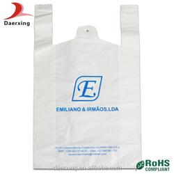 Custom made cheap t shirt plastic bags