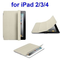 Ultrathin Four Folio Leather Smart Cover Case for iPad 4
