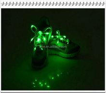 Hot Sale Nylon Ribbon Flashing Shoe Laces Flash Light Up LED Glow Satin ShoeLaces Strings
