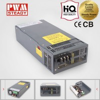 36v 30a 1000w high efficiency metal case led short circuit protection output transformer switching power supply adapter