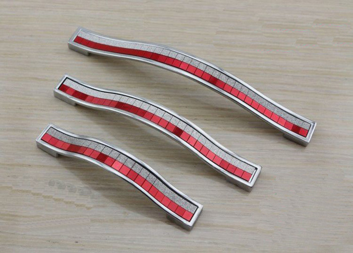 red cabinet hardware pulls 2