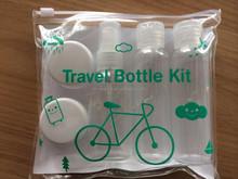 Hot sell plastic travel cosmetic bottle set /travel kit