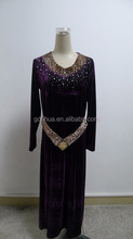 2015 new product rhinestone belt front long prom dress