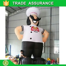 MOQ10pcs 6meters hight cheap advertising giant chef inflatable