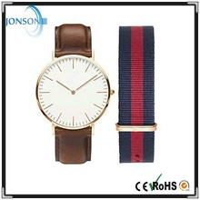 Minimalist 40mm Egg white blank mens leather watch custom made watch dials