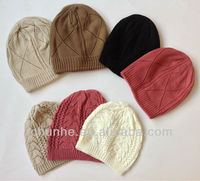 lovely fashion & popular 100% acrylic knitted winter hats factory