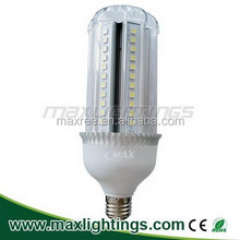 High lumens Dimmable 15w SMD led bulb aluminium+pc cover E27 led corn light 5050SMD . CE ROHS approved led corn light