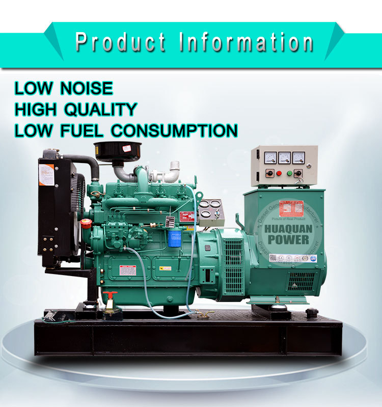 Weifang Huaquan Power High Quality 12v 220v/380v AC Generator
