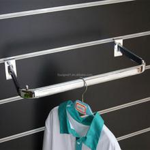 Clothes display wall shelf , U sharp display shelf in shop