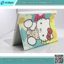Custom Logo Cute Hello Kitty Wholesale Leather Tablet Case Cover For Ipad Air