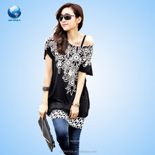 Short Sleeve Casual Loose sublimation t shirt woman&Fashion Women Sexy Black Short Sleeve Cocktail Lace Mini Dress