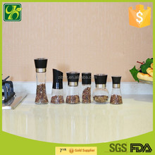 1 pc China manual wholesale glass spice grinder machine, herb grinders, spice mills