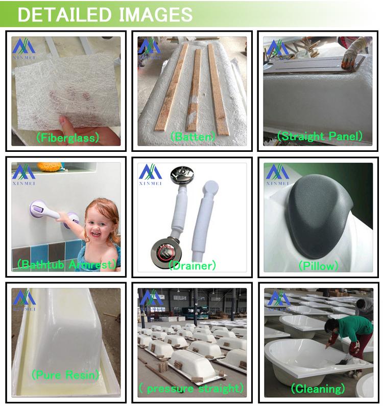 Piccole dimensioni semplice vasca da bagno acrilica con for Planimetria semplice con dimensioni