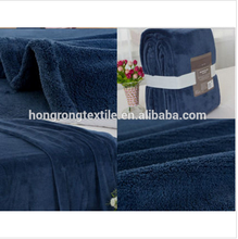 high quality deep blue coral fleece blanket