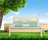 2015 Modern simple design popular adult pine wooden bed