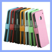 Leather Wallet Stand Protector Cover Case for HTC One / M7