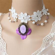 MYLOVE 2015 New Flower Lace Necklace Vintage Collar Wholesale MLJL89