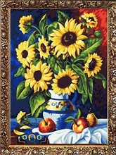 40*50cm handmade oil painting by number, oil paintings on canvas flowers