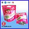 hang hole top custom printed heat seal plastic stand up bag with custom printed
