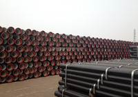 DN250 ductile cast iron pressure pipe K8 for water,gas and drainage water