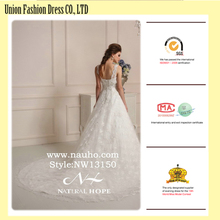 Zhongshan Natural Hope Appliqued sweeptrain weding dresses