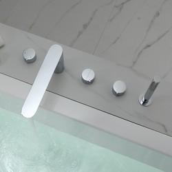 5 hole Deck mount bathtub mixe faucet shower Tub Filler