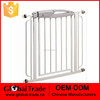 White Sturdy Walk Thru Baby Gate Safety Metal Doorway Infant Child Toddler Pet Dog Cat H0237