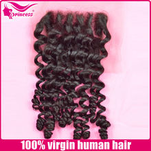 Wholesales Brazilian Wavy Human Hair silk base closure/ swiss lace Top Lace Closure