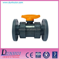 "1/2""-4"" pvc flange type ball valve for chemical industry"