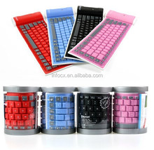 High quality Wireless Bluetooth Silicone soft keyboard / foldable keyboard / waterproof keyboard