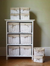 Shabby chic Wooden Wicker Drawers Outdoor Poly Rattan Furniture Philippines