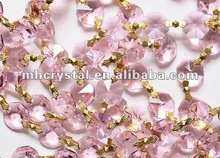Pink 14MM octagon beads crystal strands MH-12494