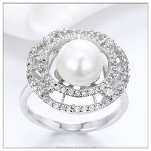 Cheap Price Rings , Gold Plated Copper Rings , Beautiful Pearl Rings Jewelry
