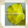 Fabricante claro placa de vidrio con diseño de la flor