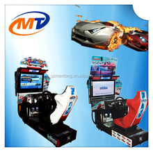 mantong 42 LCD Outrun coin operated Racing Game Type car racing game machine with LED lights