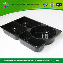 Non-slip biodegradable material disposable plastic food tray