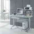 vidrio de juego de escritorio con impresora plataforma