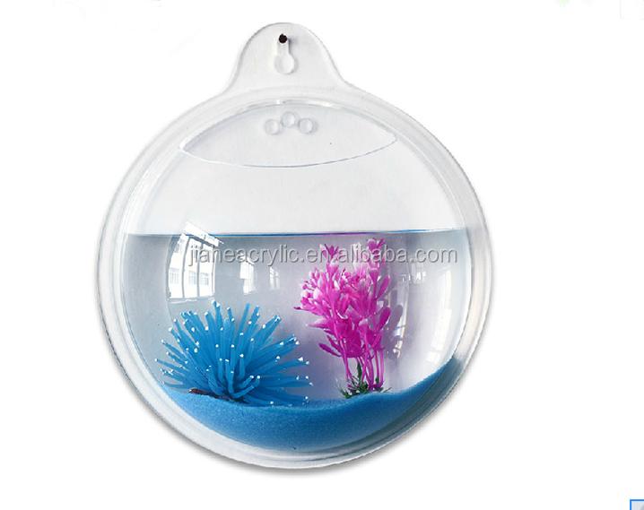 Plexiglass wall mounted tanks acrylic fish aquarium home for Plastic fish bowls bulk