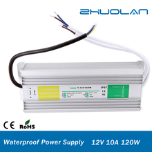 shenzhen electronic technology co ltd 90V-250V AC Input Voltage dc 12v 10a 120w waterproof IP67 switching power supply