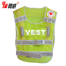 2015 cheap led flashing safety vest for sale