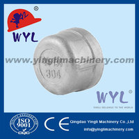 pipe casting thread round cap